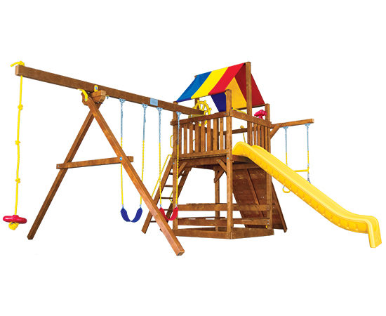 Rainbow Play Sets Clubhouse Playground
